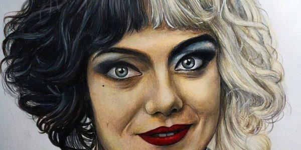 Cruella Prismacolor Pencil Color Painting