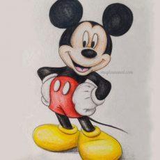 Disneytober Day 1: Mickey Mouse Art