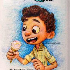 Disneytober Day 3: Luca from Pixar's Film 'Luca' Pencil Color Painting