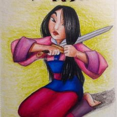 Disneytober Day 5: Fa Mulan from Mulan (1998) Drawing