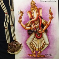 Navaratri Series Day 1: Mathrika Devi 'Vinayaki' or 'Gananayika' Painting