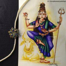 Navaratri Series Day 3: Mathrika Devi 'Māheshwari' Painting