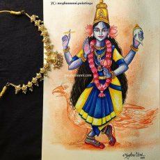 Navaratri Series Day 5: Matrika Devi Vaishnavi Painting