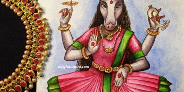 Navaratri Series Day 6: Matrika Devi Varahi Painting