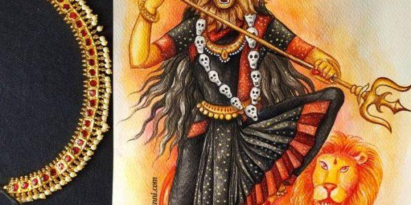 Navaratri Series Day 7: Matrika Devi Narasimhi Painting