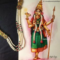 Navaratri Series Day 8: Matrika Devi Indrani Painting